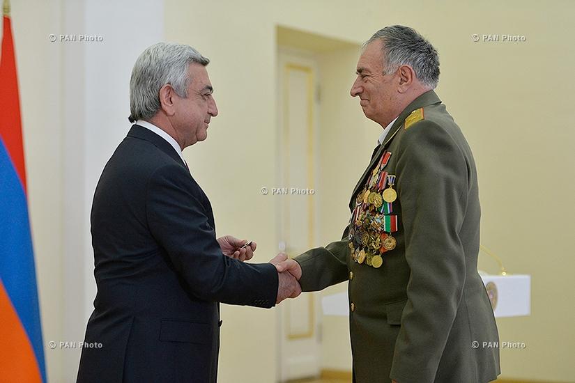 ՀՀ անկախության 25-ամյակի առթիվ պարգևատրման արարողություն ՀՀ նախագահի նստավայրում