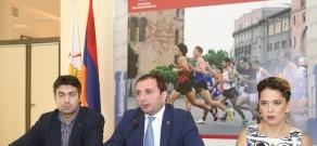 Press conference on the launch of Coca-Cola Yerevan Half Marathon project
