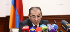 Press conference by Armenian Minister of Finance Vardan Aramyan