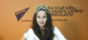 Press conference by winners of 'Little Miss and Mister World 2016' contest