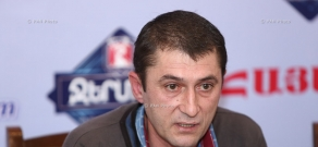 Press conference of freedom fighter Mher Mazmanyan