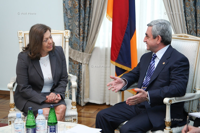Հայաստանի նախագահ Սերժ Սարգսյանը հանդիպել է ՀՀ-ում Բրազիլիայի դեսպան Ռենատե Ստիլլեի հետ