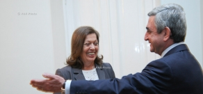 Президент Армении Серж Саргсян в Ереване встретился с послом Бразилии в РА Ренате Стилле