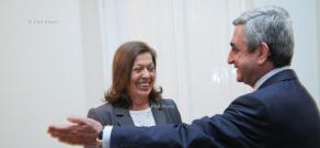 RA President Serzh Sargsyan met Brazilian Ambassador to RA Renate Stille