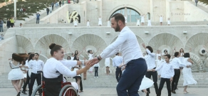 Waltz in the framework of 'Unlimited Movement' project's flashmob with the participation of people with disabilities