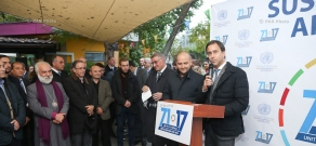 The United Nations in Armenia celebrated the 71st anniversary of establishment of the organization.