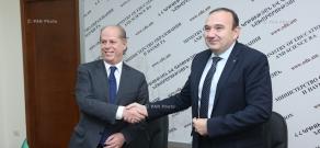 Министр образования и науки Армении Левон Мкртчян и посол Италии в Армении Джованни Ричулли подписали меморандум о взаимопонимании