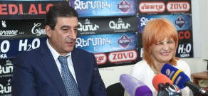 Пресс-конференция Вардана Айвазяна от РПА и вице-президента партии «Свободные демократы» Ануша Седракян