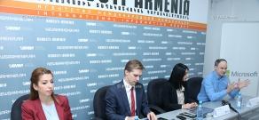 Press conference of Dmitry Beresnev, Artem Sinitsin and Liana Co
